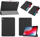 Smart Cover Book Case Hoes Voor Apple iPad Pro 11 Inch 2018 Tri-Fold Multi-Stand Flip Sleeve - Zwart