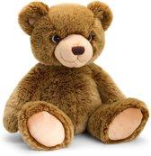 Keel Toys pluche beer donkerbruin teddyberen knuffel 35 cm - Beren knuffeldieren - Speelgoed voor kind