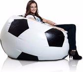 Bomba Voetbal - Zitzak - Kunstleer - Ø120 cm - Zwart wit