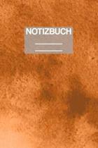 Notizbuch A5 Muster Orange Wasserfarben: - 111 Seiten - EXTRA Kalender 2020 - Einzigartig - Liniert - Linie - Linien - Geschenk - Geschenkidee
