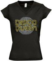 Zwart T-shirt DISCO QUEEN (XL)