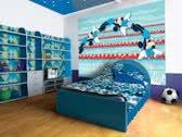 Fotobehang Disney, Mickey | Blauw | 152,5x104cm
