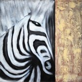 Schilderij zebra modern 80x80 Artello - Handgeschilderd