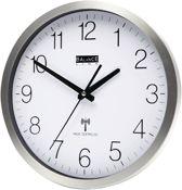 Balance Time Zendergestuurde Wandklok - Ronde Wandklok - Zendergestuurd - Aluminium - 30CM