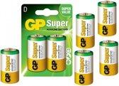10 Stuks (5 blisters a 2st) - GP Super Alkaline LR20/D batterij