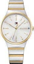 Tommy Hilfiger TH1781800 horloge dames - zilver en goud - edelstaal doubl�