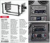 2-DIN HUMMER H2 2003-2007  afdeklijst / installatiekit Audiovolt 11-533