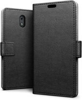Nokia 2 hoesje - Book Wallet Case - zwart