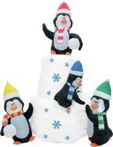EUROPALMS Opblaasbare pinguïn decoratie - kerst decoratie - 240cm