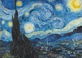 Poster Vincent van Gogh Starry Night-De Sterrennacht 50x70cm.