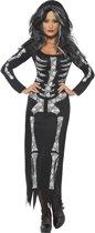 Volwassenenkostuum Halloween Skelet jurk maat L (44-46)