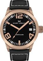Marc Coblen horloge -  42mm - Zwarte wijzerplaat - Zwarte horlogeband