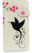 Shagwear Portemonnee - Trendy Ritsportemonnee - Dames - Kunstleer - Humming Bird (0729Z)
