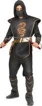 Zwart ninja pak voor mannen - Verkleedkleding
