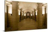 Binnenkant in het Pantheon van Parijs Aluminium 90x60 cm - Foto print op Aluminium (metaal wanddecoratie)