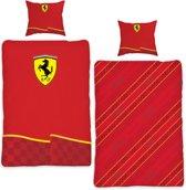 Ferrari dekbedovertrek - Rood - 1-persoons (140x200/220 cm + 1 sloop)