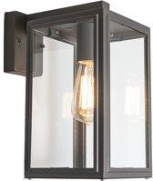 QAZQA sutton wl - Wandlamp - 1 lichts - L 170 mm - Grijs