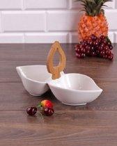 Paci sener Snack- & Tapasschaal - Porselein/Bamboe
