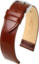 Hirsch horlogeband - Osiris bruin leer 18mm