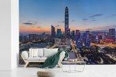 Fotobehang vinyl - Skyline van Shenzhen breedte 540 cm x hoogte 360 cm - Foto print op behang (in 7 formaten beschikbaar)