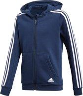 adidas - Young Boys 3S Full Zip Hoodie - Kinderen - maat 140