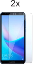 Huawei Y5 (2018) Screenprotector Glas - Tempered Glass Screen Protector - 2x - LuxeRoyal