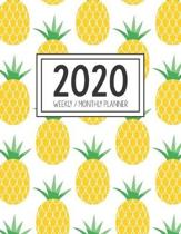 2020 Weekly Monthly Planner: Monthly Calendar - Weekly Organizer - Monday Start - Golden Pineapple Cover - January 2020 - December 2020