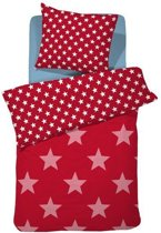 Damai Starville kinder dekbedovertrek - Red - 1-persoons (140x200/220 cm + 1 sloop)