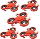 relaxdays 5 x Fidget Spinner - tri-spinner 58 g - hand spinner - anti-stress speelgoed
