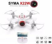 Syma X22W mini drone met WiFi FPV 720p camera + gratis pak batterijen!