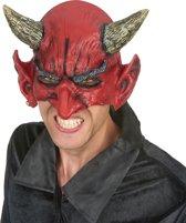 Duivel half masker van latex voor volwassenen Halloween - Verkleedmasker