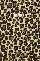 Janeen: Personalized Notebook - Leopard Print (Animal Pattern). Blank College Ruled (Lined) Journal for Notes, Journaling, Dia