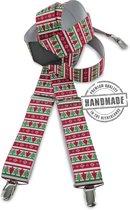 We Love Ties Bretels Kerst, rood / groen / wit