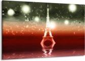 Canvas schilderij Eiffeltoren | Rood, Grijs | 140x90cm 1Luik