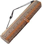 #DoYourYoga - yogatas - »Sunita« - yogabag van canvas - 63 x 13 cm. - braunes Muster