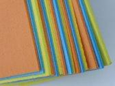 15 sponsdoekjes - 3 kleuren - super absorberend