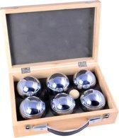 Longfield Games Jeu De Boules 6 Ballen In Luxe Houten Koffer