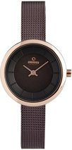 Obaku Denmark V146LX VNMN Horloge - Staal - Bruin - Ø27mm