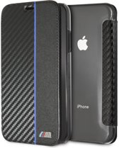 BMW Book Case Blauw - M Sport Carbon - TPU - iPhone XR  - Met pashouder