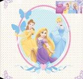 Disney Prinses - Canvas Schilderij - Wit/roze - 30x30 cm
