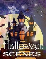 Halloween Scenes Coloring Book