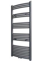 Radiator/handdoekenrek curve grijs 600x1424 mm (incl. Werkhandschoenen)