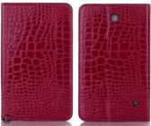 Samsung Galaxy Tab 4 8.0 krokodil roze hoes map cover T330