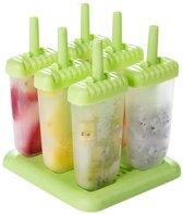 LifeGoods Plastic Waterijs Vormen (Set 6 Stuks) - Icelolly Pop – IJslolly – IJsvormpje – IJsjes Maker - IJsstokjes - Zelf Ijs Maken – Popmaker – Ice molds – Gietvorm