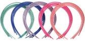 Haarbanden, b: 8 mm, 20 stuks, kleuren assorti