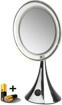 Gérard Brinard verlichte spiegel LED spiegel incl. batterij - 5x vergroting - Ø20cm