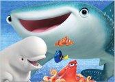 Disney Finding Dory - Canvas Schilderij - Haai - 50x70 cm