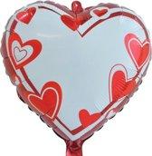Folat - Folieballon - Hart - Beschrijfbaar - 45cm