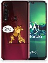 Motorola Moto G8 Plus Telefoonhoesje met Naam Giraffe
