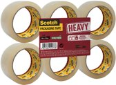 Scotch Verpakkingstape, Heavy -Flat Pack/6 rollen, Transparant, 50 mm x 66 m, pp 237